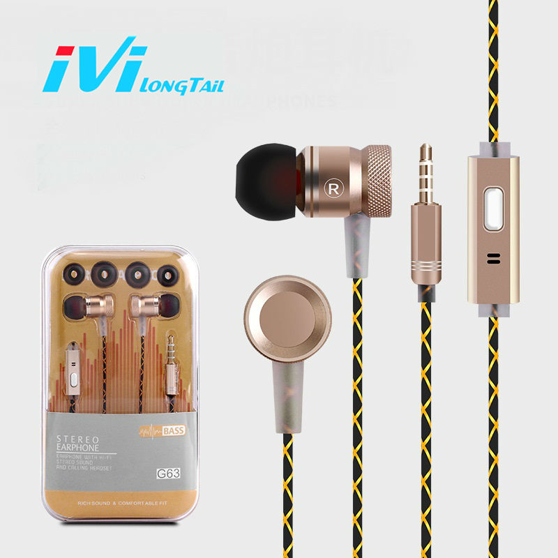 Professional Earphone for xiaomi redmi note 4 4X pro s 3s 16gb 32gb mi5 for iPhone 7 6s Plus 5s Headset Headphones Earbuds Gold iphone 5s gold б у 15 000