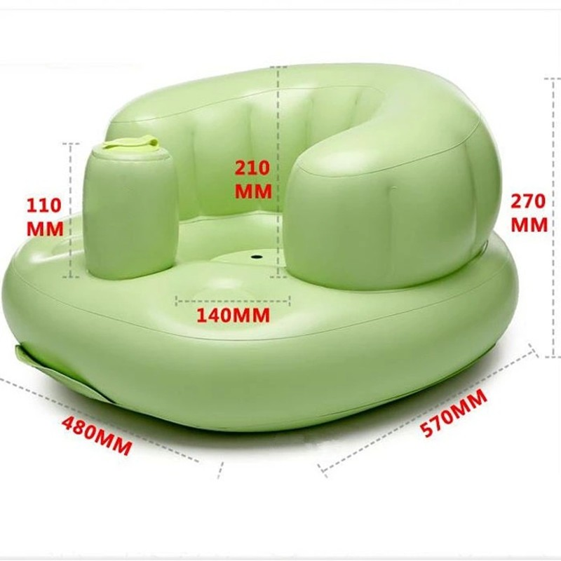 3.29 Inflatable Baby Chair Bath Room Stools Portable Children Seat Kids Feeding Learn To Sit Play Games Bath Sofa Great Helper