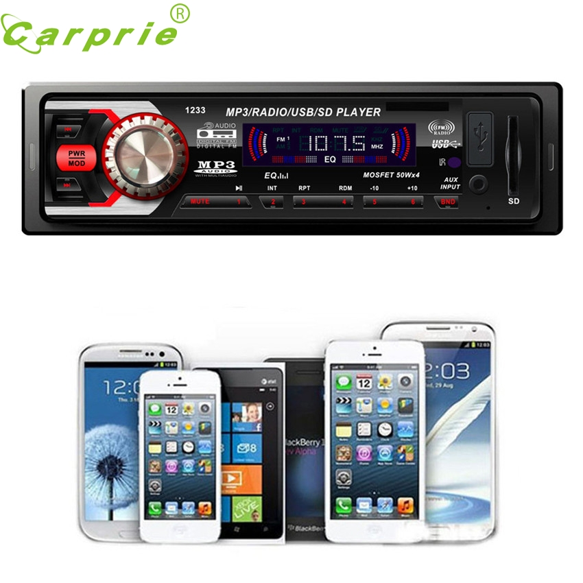 CARPRIE Super drop ship Car Audio Stereo In Dash FM With Mp3 Player USB SD Input AUX Rec ...