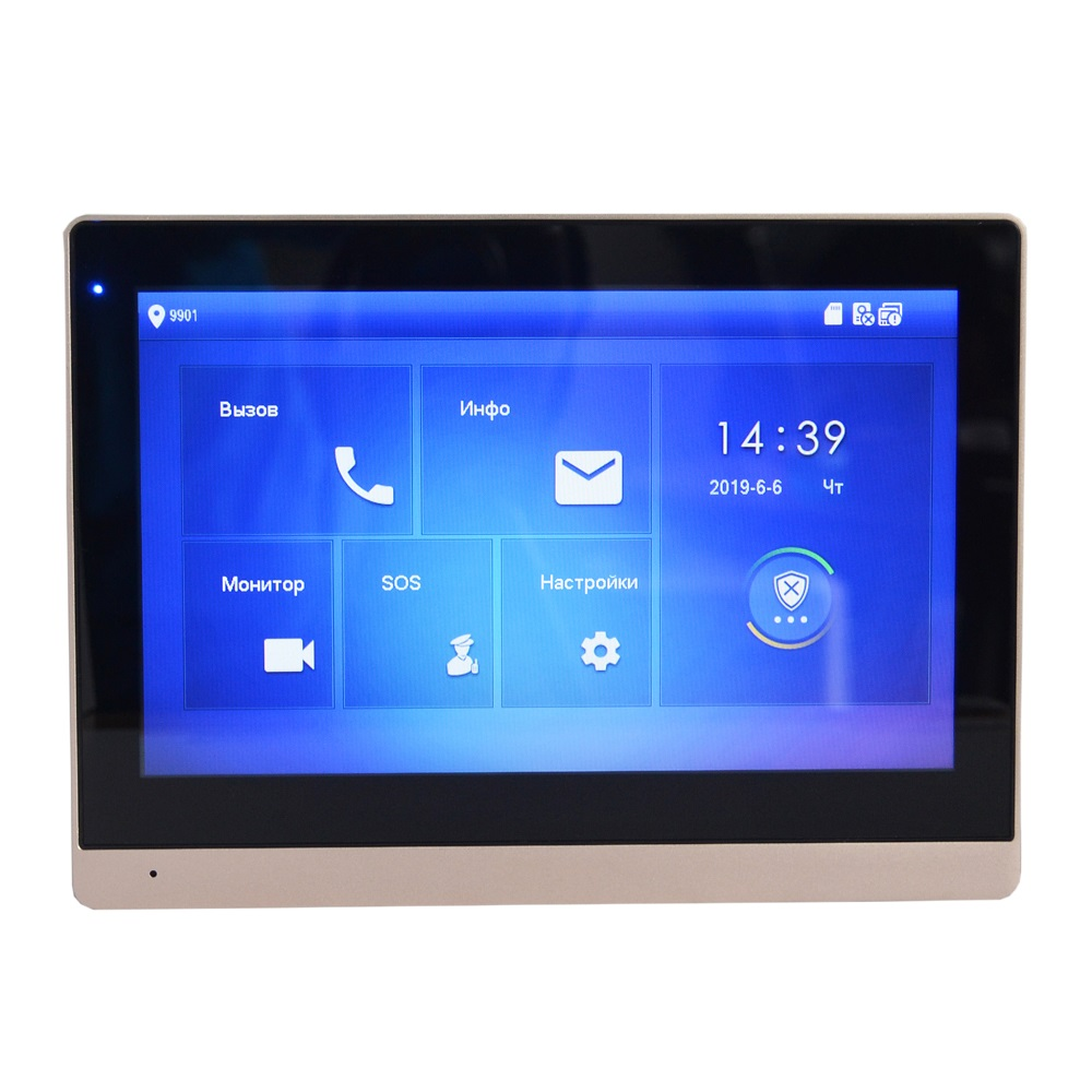Image 3 - DH logo Multi Language VTH1660CH 10inch Touch Indoor Monitor,IP doorbell, Video Intercom,wired doorbell-in Indoor Monitor from Security & Protection