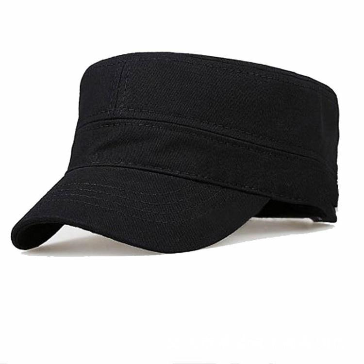 1aed4cbb284e1a Black Military Cap men tactical military hat Hats Gorra Plana Militar Cadet  Hat flat cap