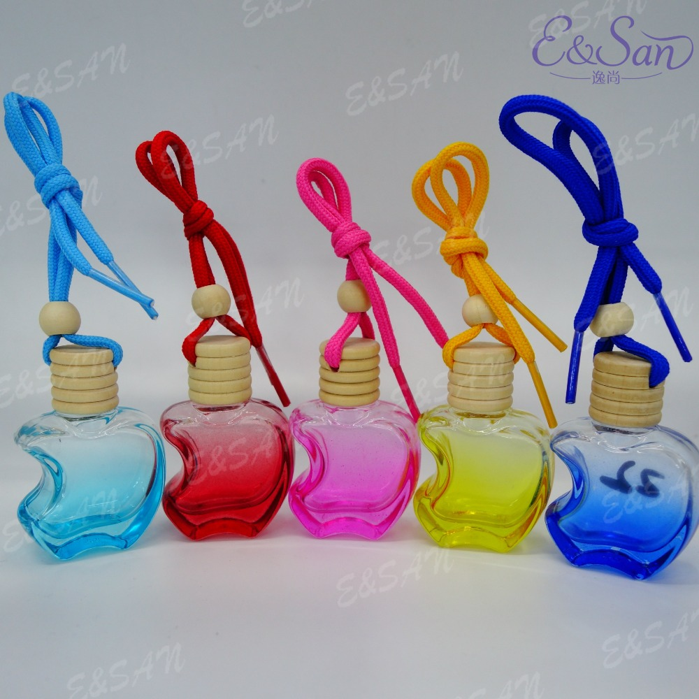 FMP1020 15ML Apple Spraying Perfume Glass Car Hanging Cosmetic Bottle 100pcs lot