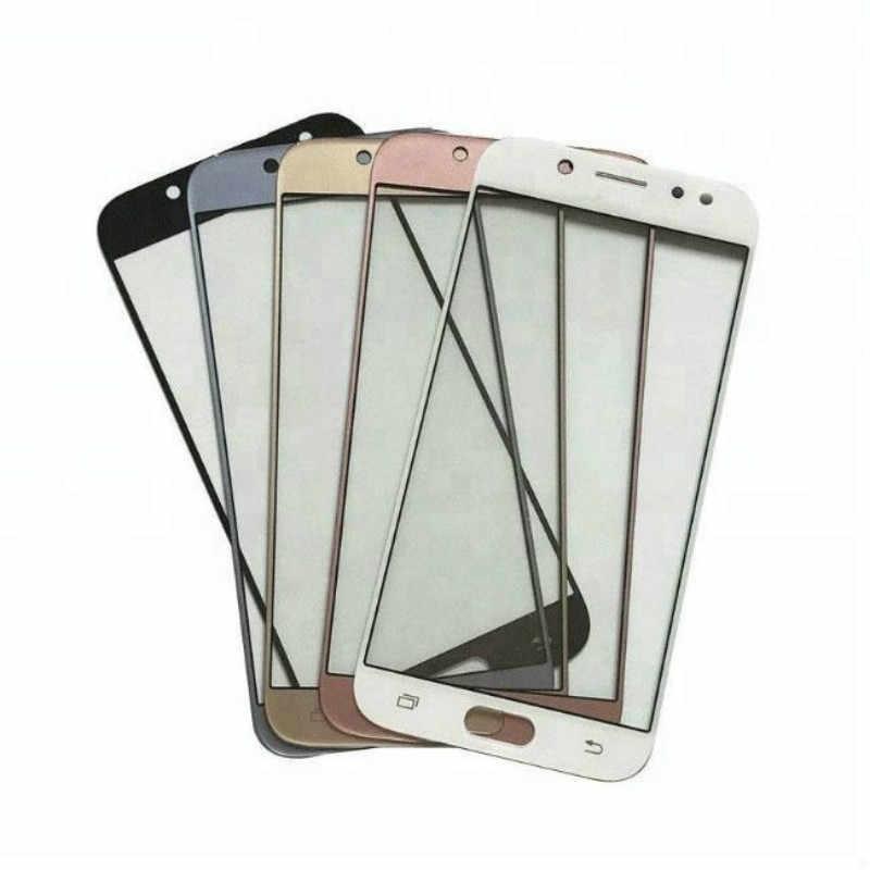 شاشة إل سي دي باللمس شاشة خارج الزجاج لسامسونج غالاكسي J5 J7 برو 2017 J530 J530F J730 J730F لمس الزجاج الأمامي الهاتف أجزاء