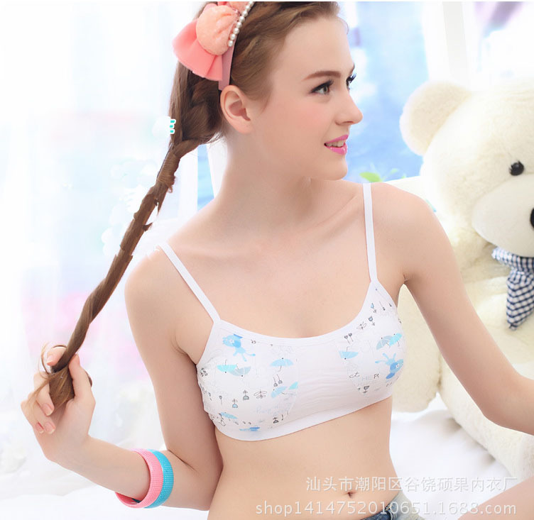 Wholesale Cotton Padded Training Bra For Girls Young Student ...