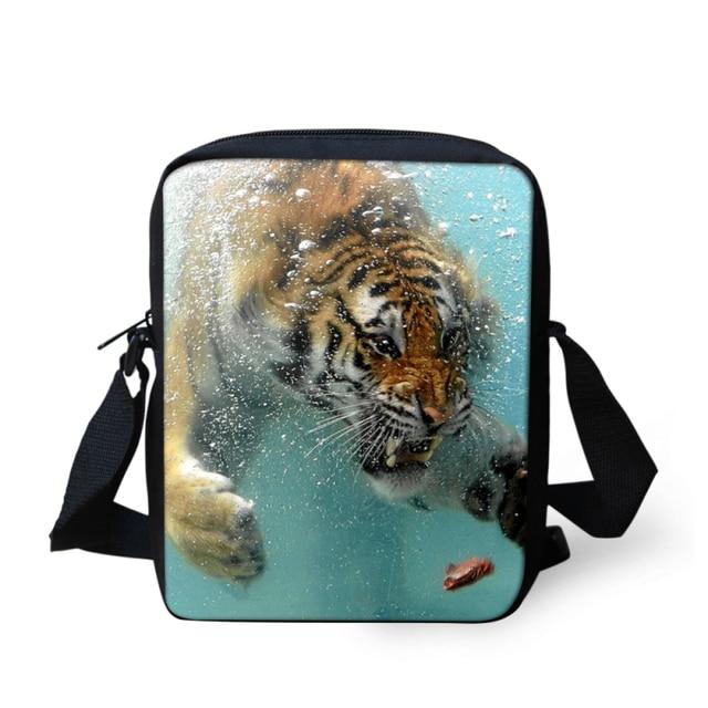 73119463c167 Hot Trendy Small Men Messenger Bag Mini Cool Animal Zoo Tiger Print Children  Crossboby Bags Kids Shoulder Bag Boys Satchel Bags