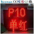 Leeman полу открытый P10 красный светодиодный дисплей --- RGB P 10 цена светодиодные табло/шторы светодиодный дисплей наружных светодиодных движущихся знак панелей
