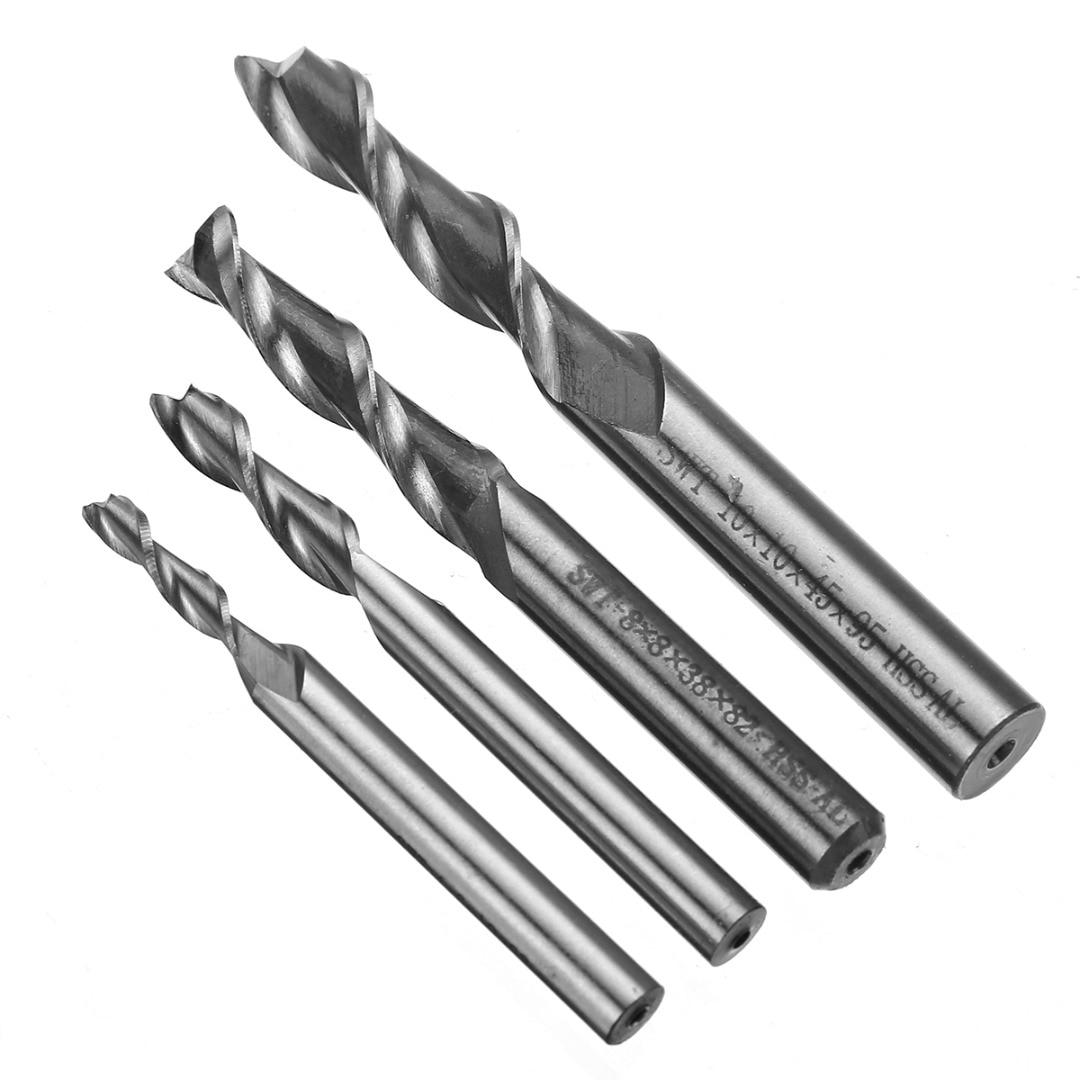 1pc 2 Flute 8mm HSS & Aluminium End Mill Extra Long 4/6/8/10mm CNC Milling Cutter Bit 1pc 2 flute hss