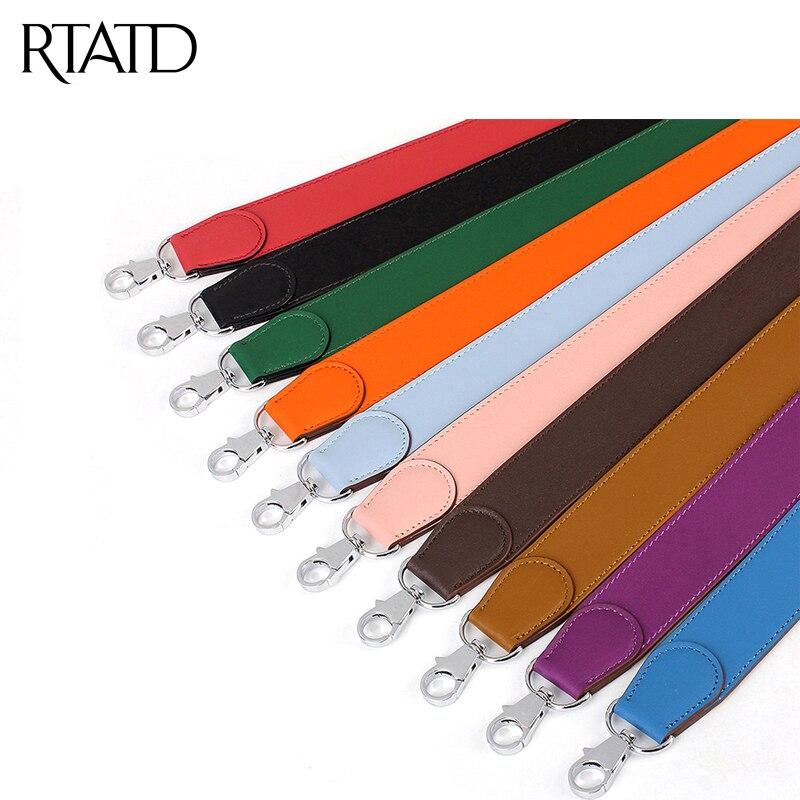 RTATD New Women Handbag Strap Customise Lady Shoulder Bag Stripe Patchwork Color Buckle High Grade Bag Accessories P1940