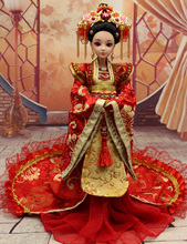 33CM Handmade Chinese Ancient Red Wedding Dress Doll 12 Jointed Doll Bjd 1 6 Princess Doll