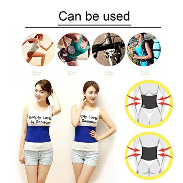 1Pcs Waist Trimmer Belt for Women Men, Sweat Workout Fitness Waist Trainer Weight Loss Adjustable Belt Belly Body Exercise Wrap 4