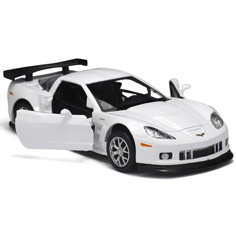 1:36 Scale car model for Chevrolet Corvette Z06 C6.R toy Educational Model Pull back Diecast Metal toy car/Gift/Collection/Kid