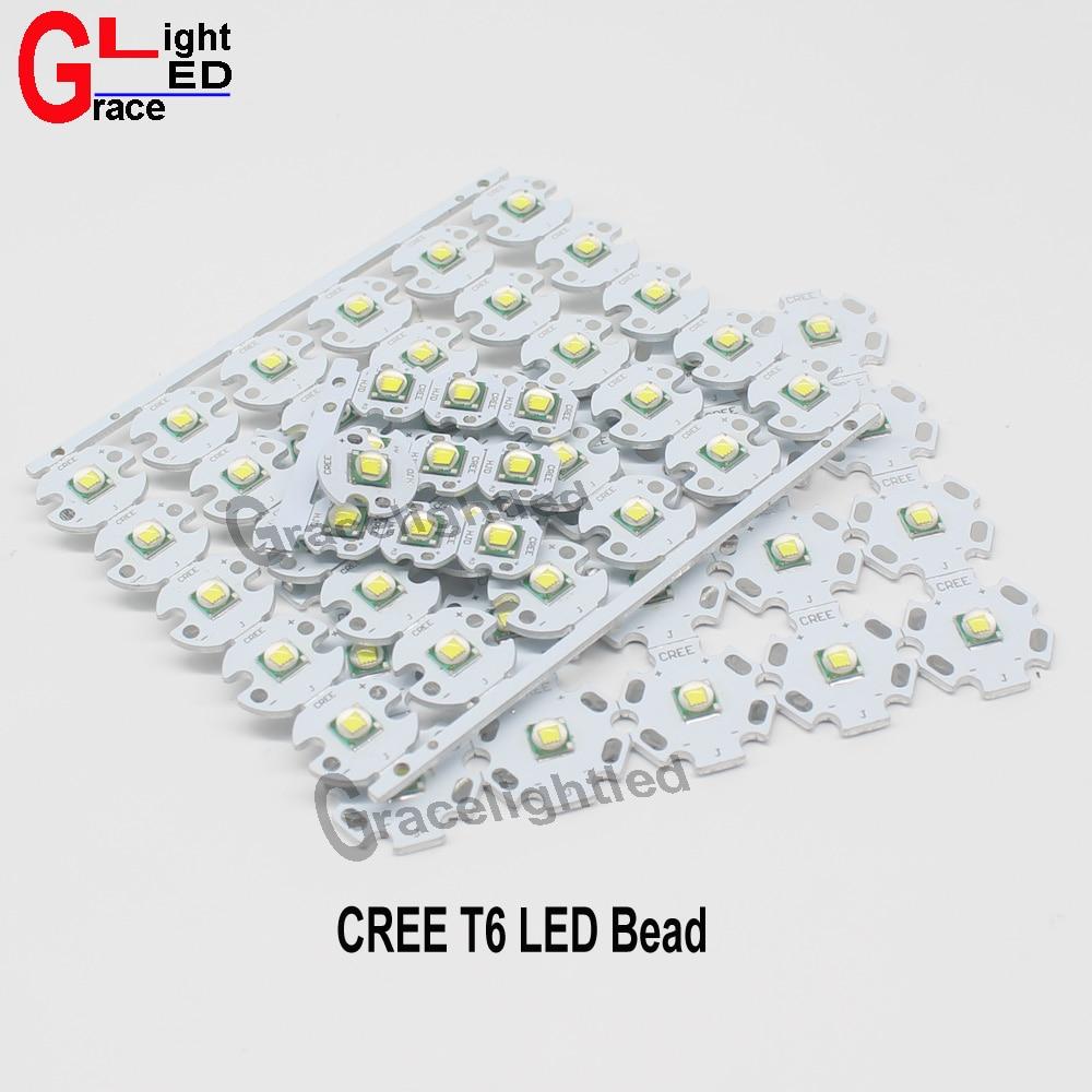 1pc CREE XML XM L T6 U2 10W WHITE 6000 7000k LED High