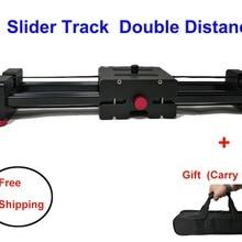 Камера Видео слайдер Трек 40 см 50 см двойной расстояние рельсы системы для Nikon sony Canon DSLR Dolly Стабилизатор плёнки производитель Youtuber