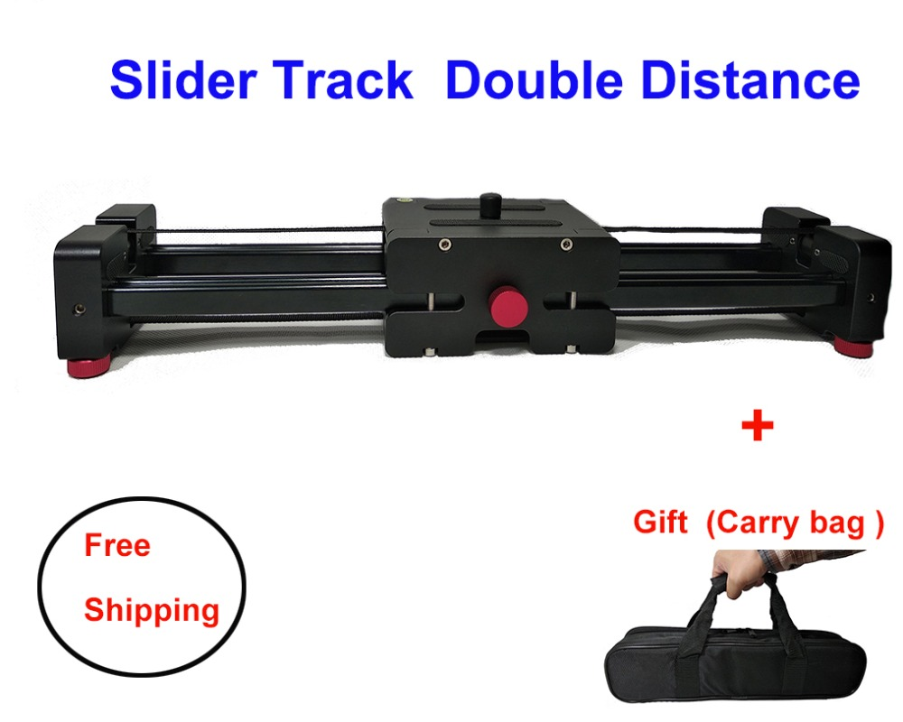 Camera Video Slider Track 40CM 50CM Double Distance Rail Systems For Nikon Sony Canon DSLR Dolly Stabilizer Film Maker Youtuber