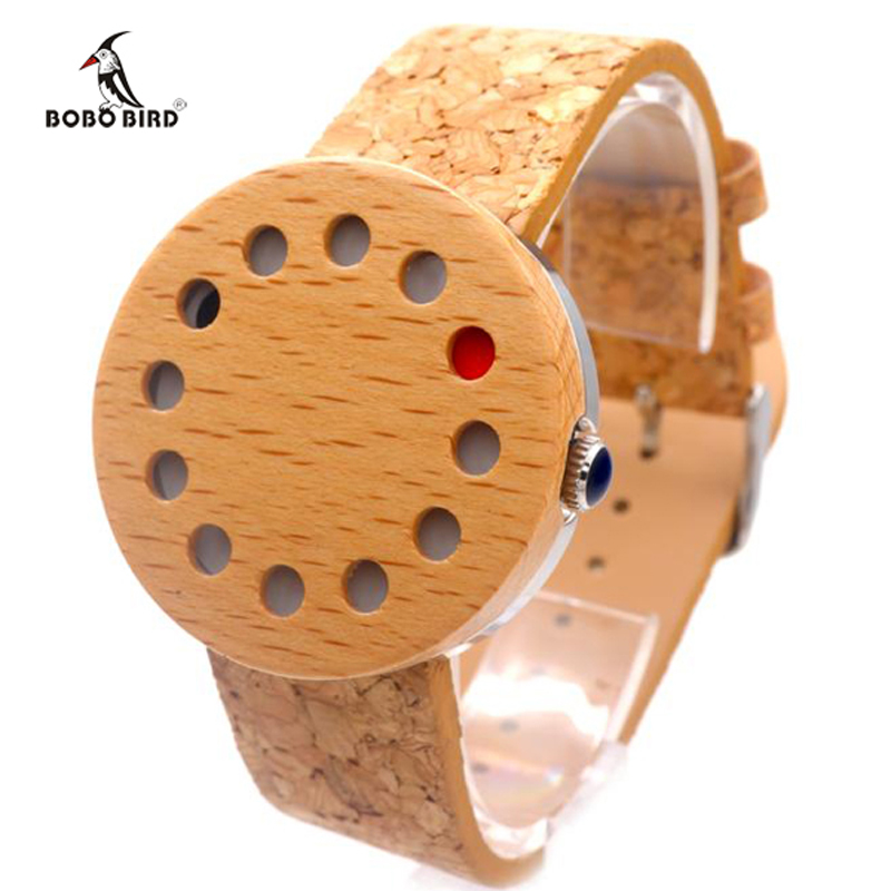 BOBO BIRD Wooden Watches Japan Quartz Watches for Men Women With Real Leather Band Wood Wristwatch