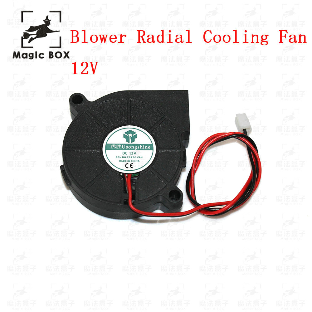 3d pinter fan 1pcs DC 12V 5015 Cooling Fan Hotend Extruder for RepRap 3D Printer Parts 50mm Blower Radial Cooling Fan maitech dc 12 v 0 1a cooling fan red silver
