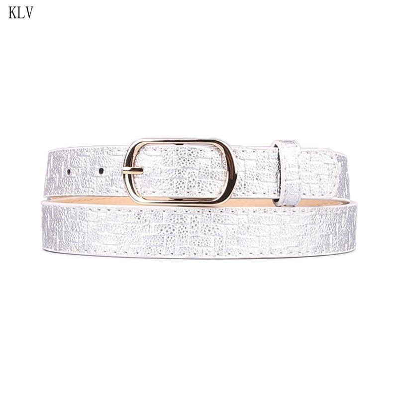 Waistband Women Waist-Accessories Pattern-Belts Skinny Fashion Weave Imitation Exquisite