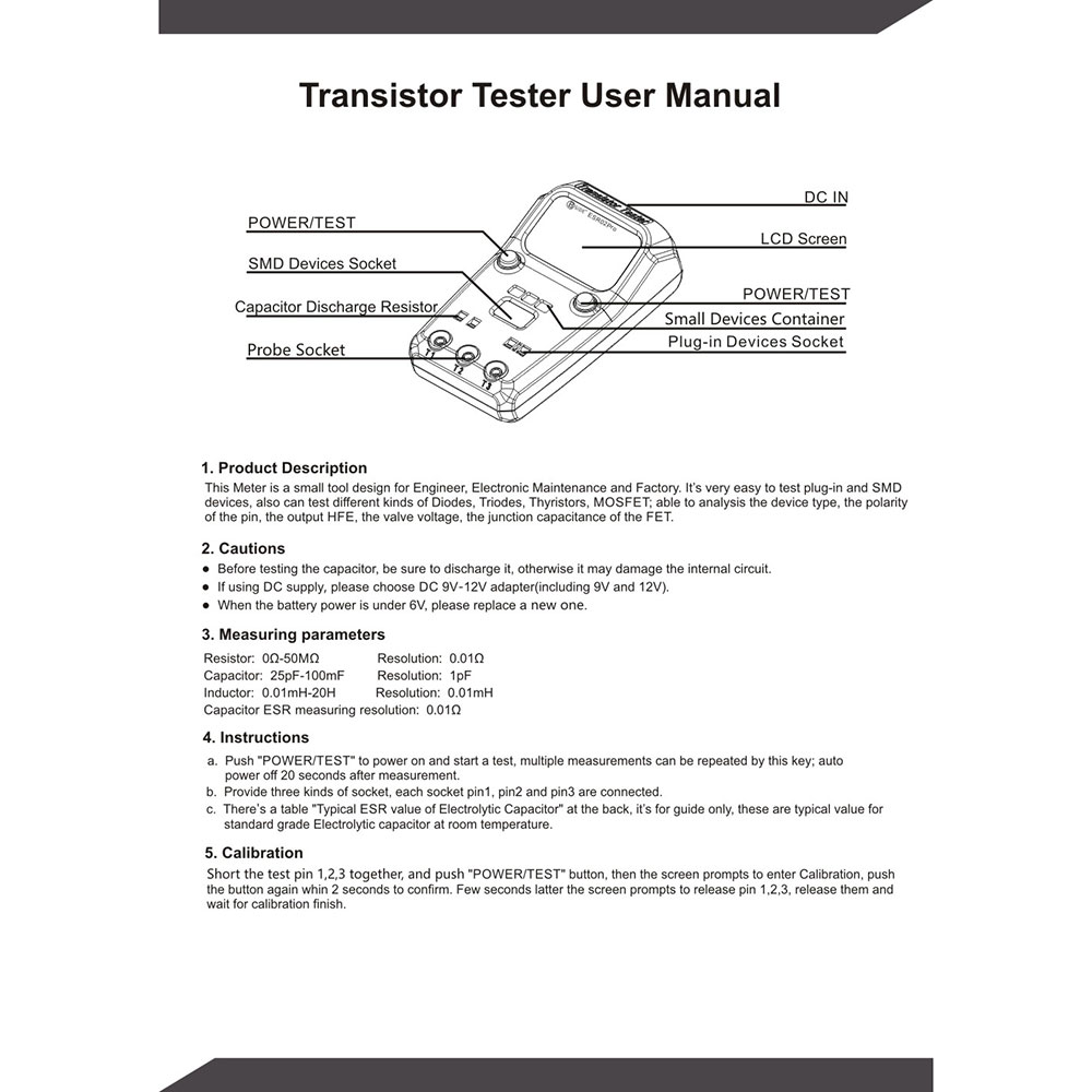Bside Esr02 Pro Digital Transistor Tester Diode Capacitance Capacitor Schematic Resistance Chip Component Inductance Meter In Multimeters From Tools On Alibaba