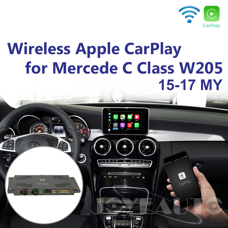 Joyeauto Aftermarket OEM Sem Fio Apple CarPlay Android Espelho Auto Retrofit Mercedes Classe C W205 GLC X253 15-19 NTG5 jogo carro