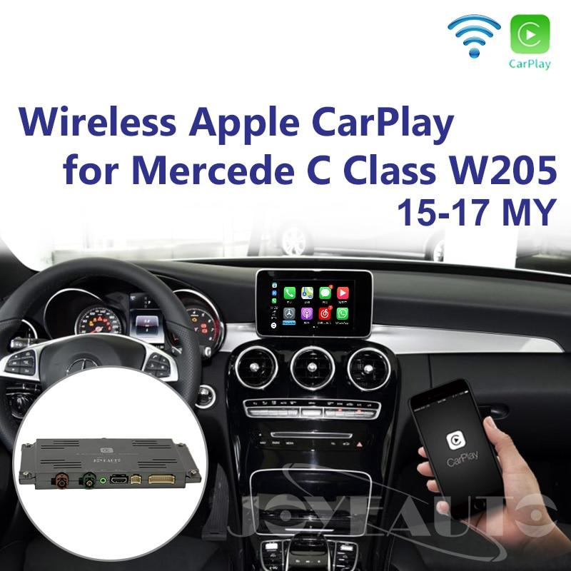 Joyeauto Aftermarket OEM Sem Fio Apple CarPlay Retrofit Mercedes Classe C W205 GLC X253 15-19 NTG5 Jogo Carro com câmera reversa