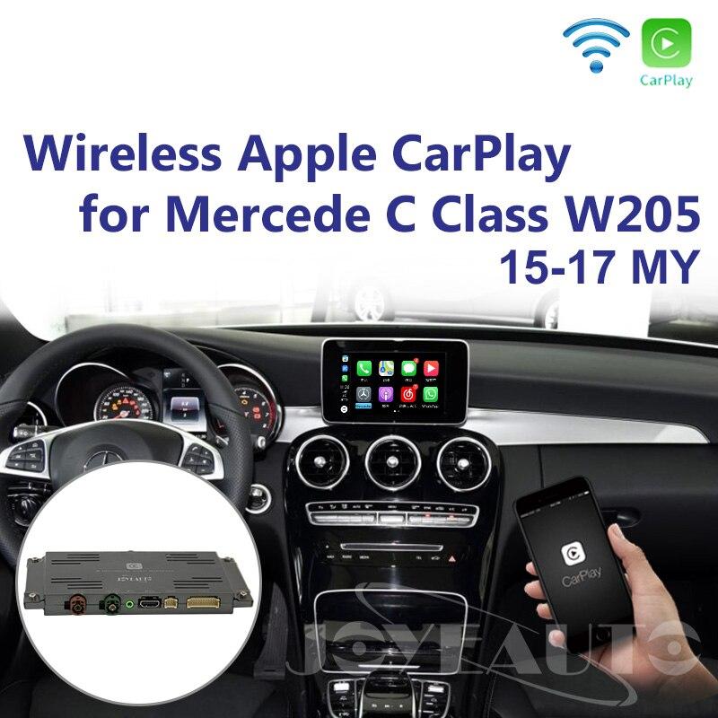 Joyeauto pièces de rechange sans fil OEM Apple CarPlay rénovation Mercedes classe C W205 GLC X253 15-19 NTG5 jeu de voiture avec caméra de recul
