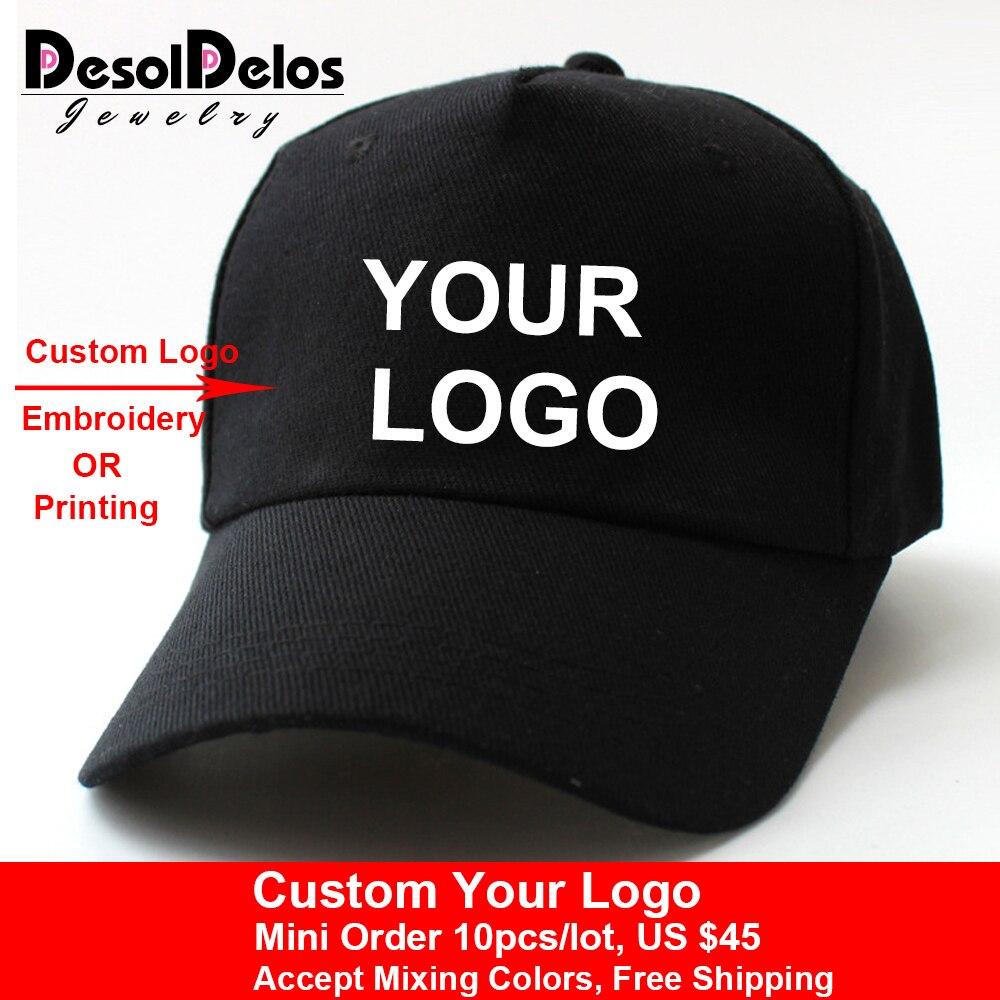 10pcs lot High Quality DIY Your Own Cap Custom Logo Caps Women Men Snapback Blank Customized
