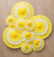 15/20/25/30/35cm Multi-Layer Paper Fans Wedding Backdrop Reception Decoration Birthday Party Supplies Valentines day