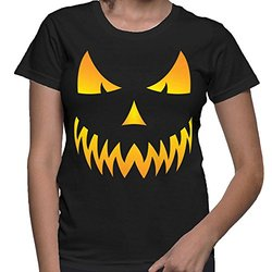 Womens evil font b smiley b font pumpkin halloween t shirt.jpg 250x250