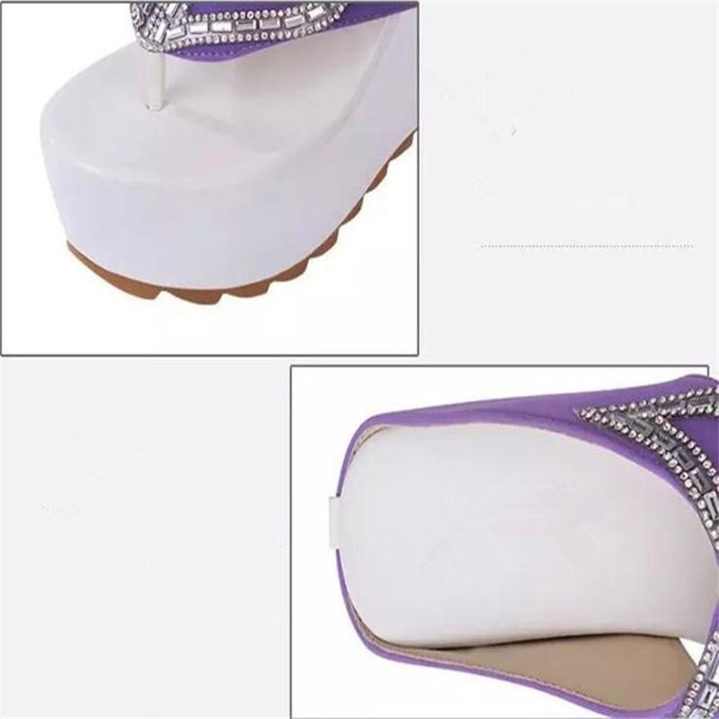 Tacón Flops Black 2018 Flip Cuña Gruesa 39 Verano Inferior pueple Marca Sandalias Zapatos De Patchwork Mujer Size35 Plataforma Cómodo XqTYw