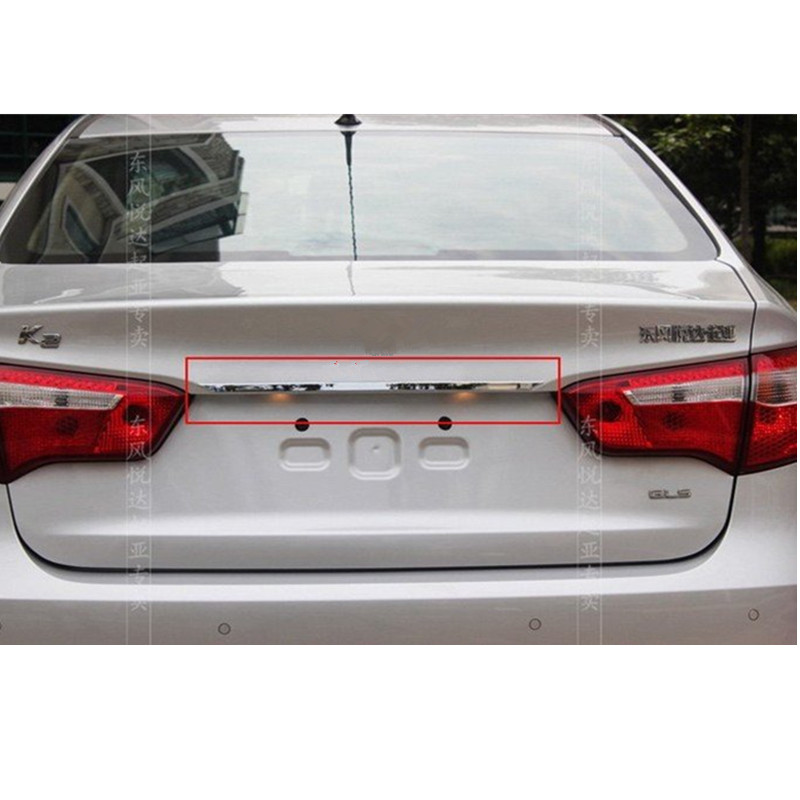 ABS Chrome Rear Trunk Lid Cover Trim For 2011-2012 KIA Rio/K2 4dr