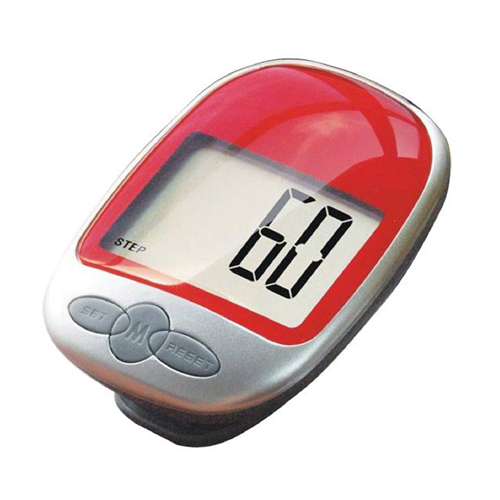 Waterproof LCD ExeCuter Pedometer Step Calorie Counter Walking Distance, Red