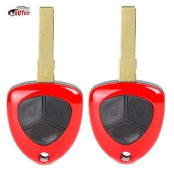 KEYECU 2 Pcs Smart Replacement Remote Key Fob 3 Button 433MHz ID48 Chip for Ferrari 458 Italia California 2010-2014 FF 599 GTB
