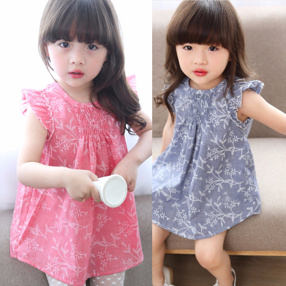 Puseky Newborn Kids Baby Girls Clothing Tops Ruffles Short Sleeve Sundress Infant Outfit Princess Flower Party Dress Kids Girl girls tops cute pants outfit clothes newborn kids baby girl clothing sets summer off shoulder striped short sleeve 1 6t