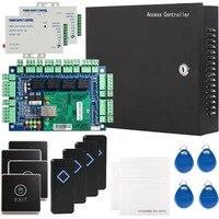 Сетевой безопасности rfid Управление доступом доска комплект из металла AC110V Мощность коробка для 4 Дверные рамы