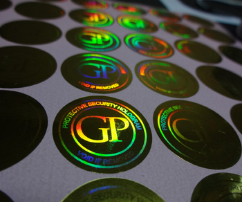 Free design ! secure genuine custom gold hologram labels stickers  , void if removed