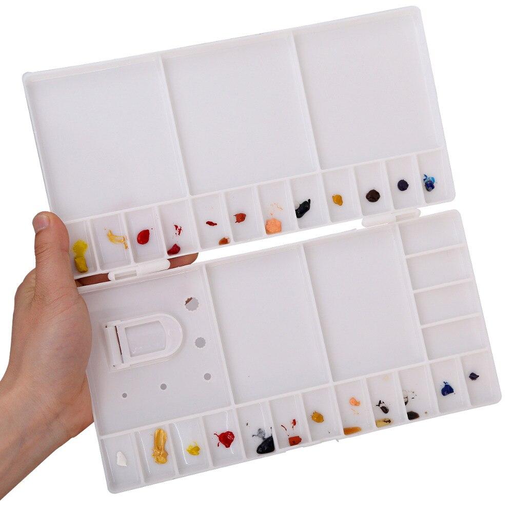 Большая 33 складывающаяся пластиковая палитра Акварельная цветная коробка