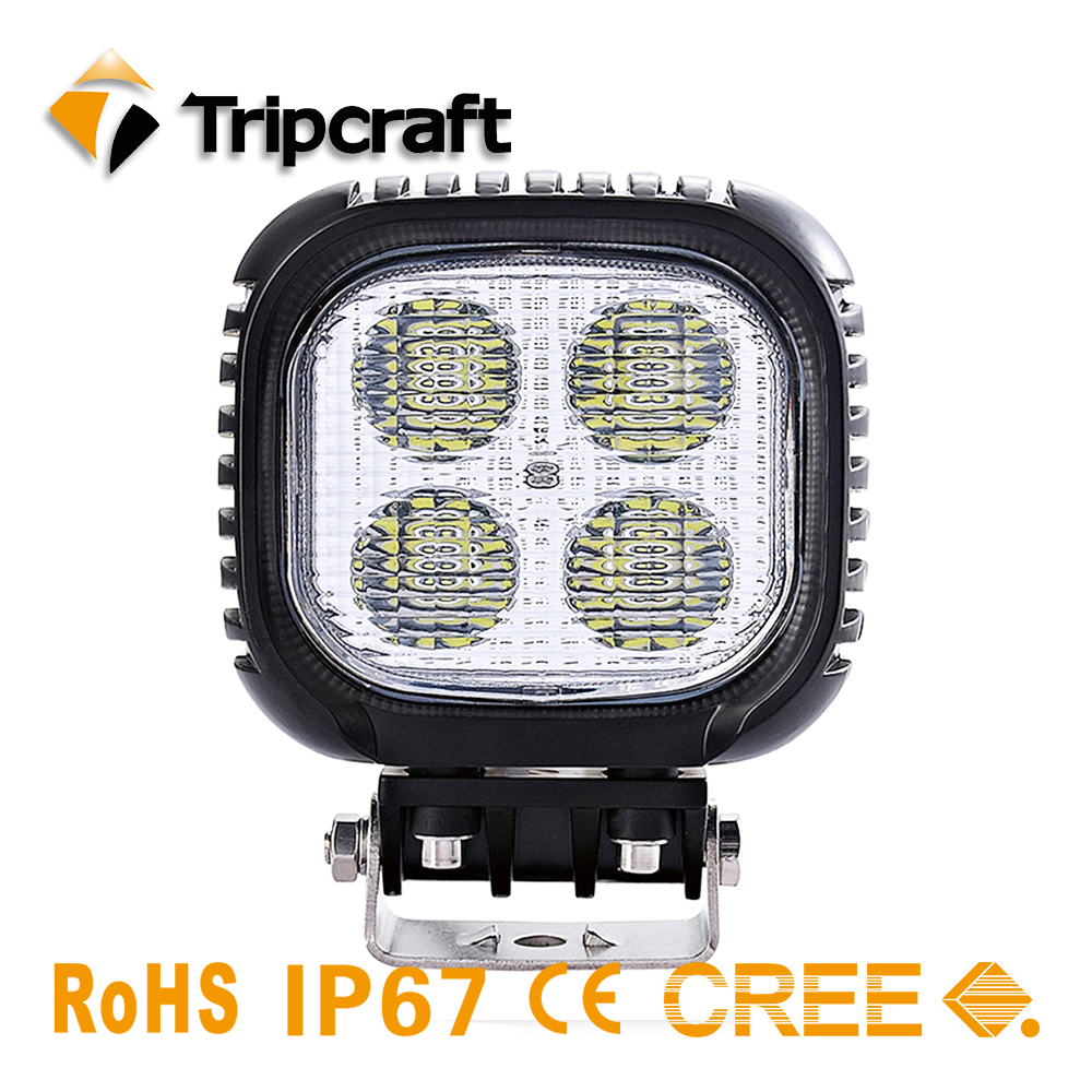 TRIPCRAFT 40W 4inch LED Work Light Flood Driving Lamp for Car Truck Trailer SUV Off Road Boat 12V 24V 4WD car accessories