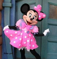 2015 High Quality Pink Minnie Mouse Mascot Costume Pink Minnie Mouse Mascot Free Shipping