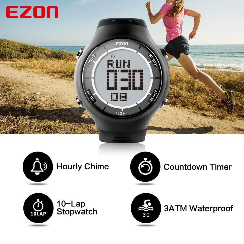 EZON Men Watches Alarm-Clock Digital Multifunction Running Outdoor Waterproof Sport Hour