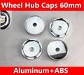 4 X black 60MM CAR WHEEL Hub Center LOGO Caps Metal Aluminum Fits for SRX SLS CTS Escalade BLS ATS Car Stickers