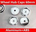 Preto 4X60 MM RODA de CARRO Centro Hub Caps LOGO Metal alumínio Se Encaixa para SRX SLS CTS Escalade BLS ATS Adesivos de Carro