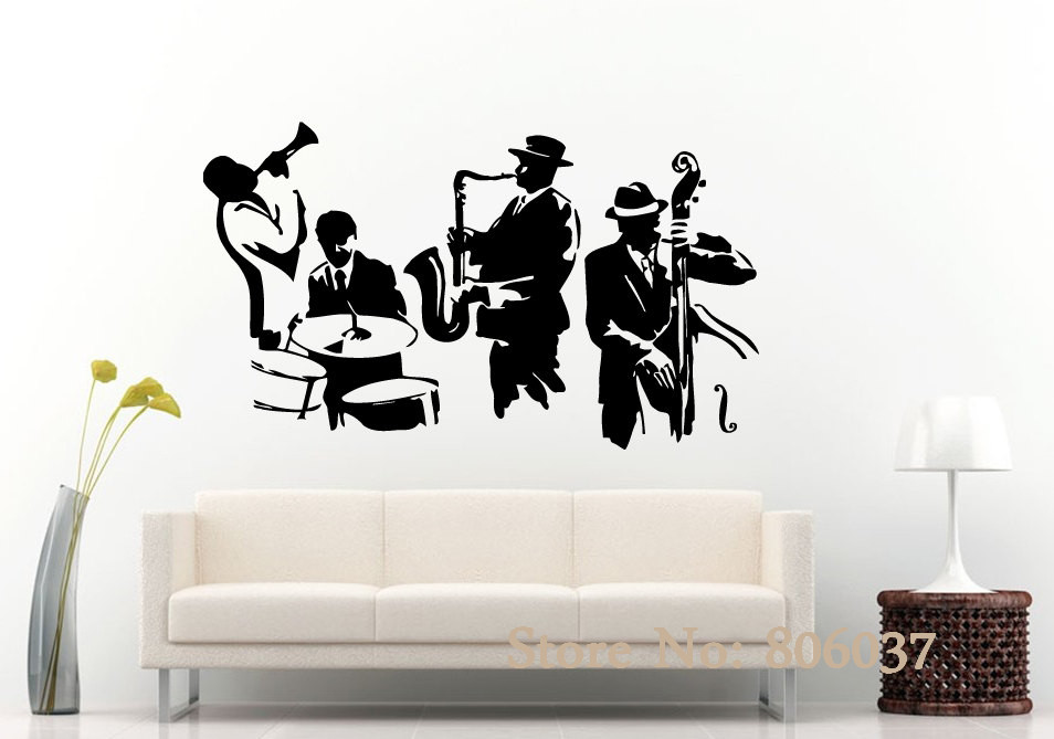 New Fashion 130 160cm Marilyn Monroe Jazz Music Vinyl Wall Art Decals For Living Room Bedroom