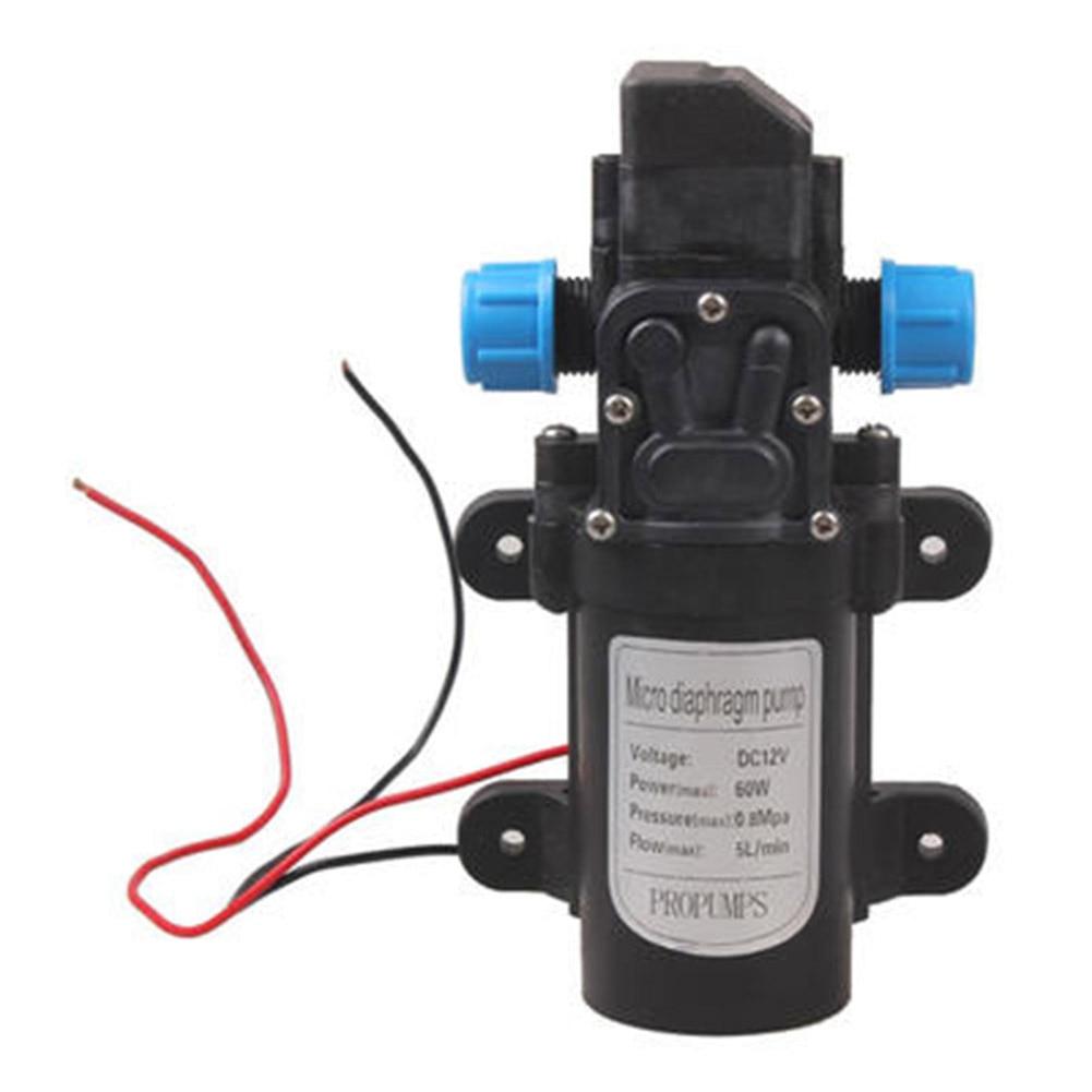 5L/min DC 12V 60W High Pressure Micro Diaphragm Water Pump Automatic Switch for Pressurized car wash spray pesticide