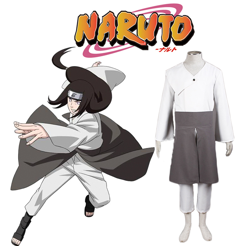 New Japanese Anime NARUTO Cosplay Hyuga Neji Costumes Adult Kimono Costumes for Men Full Sets Custom-Made