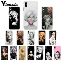 Yinuoda marylin monroe Transparent Soft Shell Phone Cover for iPhone 7 7plusX XS MAX  6 6s 8 8Plus 5 5S SE XR