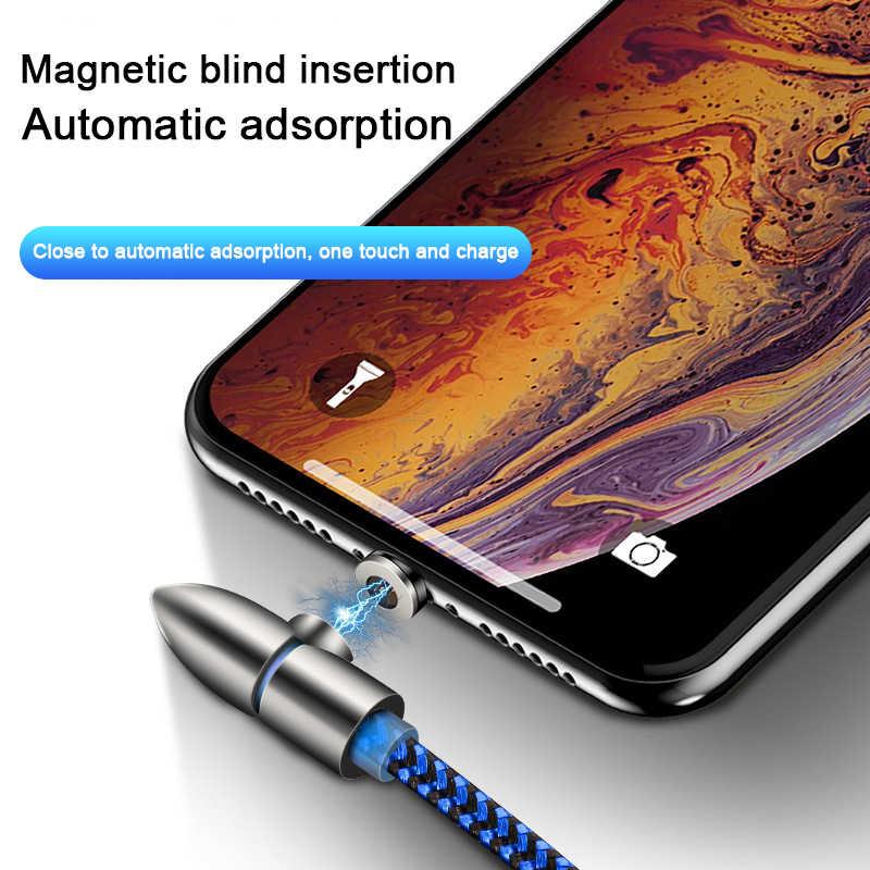 90 Gradi Cavo Magnetico Micro Usb Tipo di 8Pin C Veloce di Ricarica Microusb Tipo-C Magnetico Del Caricatore Del Cavo per Iphone X Xiaomi Huawei