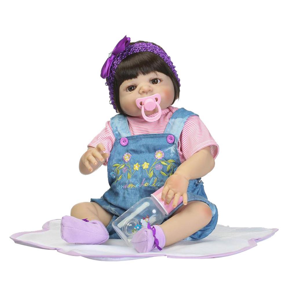 New 22inch Lifelike Reborn Baby Doll Vinyl Silicone Children Accompany Toy Gift New 22inch Lifelike Reborn Baby Doll Vinyl Silicone Children Accompany Toy Gift