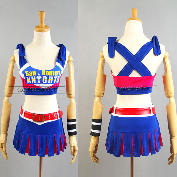 2016 Lollipop Chainsaw Juliet Cheerleaders dress cosplay halloween Costumes