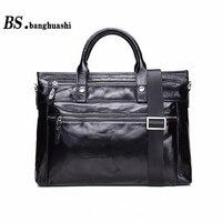Men S Briefcases Leather Shoulder Messenger Bag Business Casual Handbag Built In Computer Bag Men S