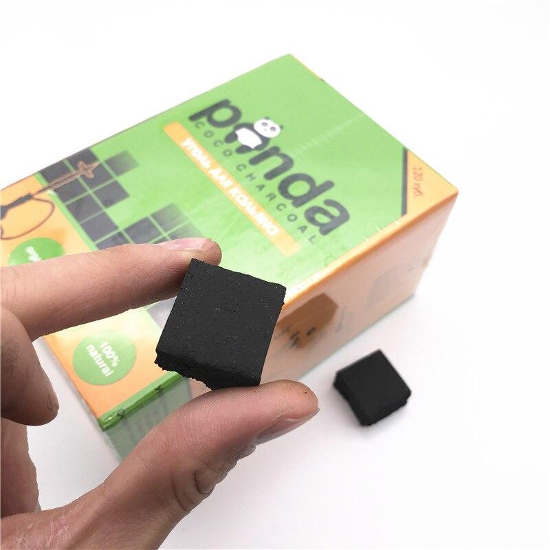 120 pièces cube brûlant coquille de noix de coco charbon de bois 25x25x15mm narguilé charbon Shisha sheesha charbon vert panda charbon tabac tan2031